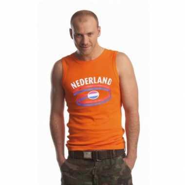 Oranje heren singlet nederland shirt