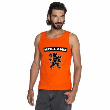 Oranje holland zwarte leeuw tanktop heren shirt