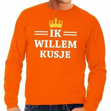 Oranje ik willem kusje sweater heren shirt