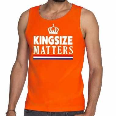 Oranje koningsdag kingsize matters tanktop heren shirt
