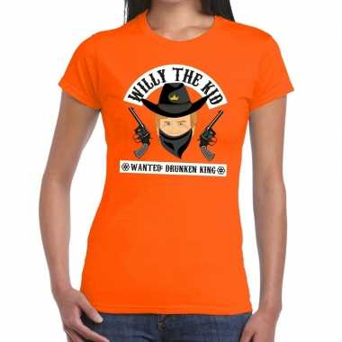Oranje koningsdag willy the kid t shirt heren