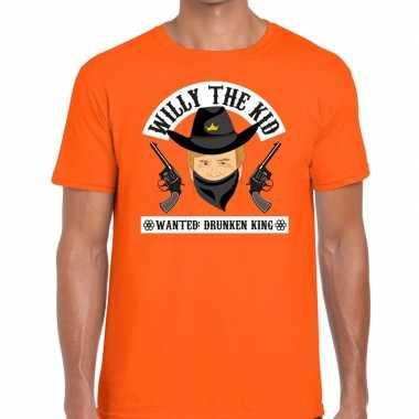 Oranje koningsdag willy the kid t shirt heren