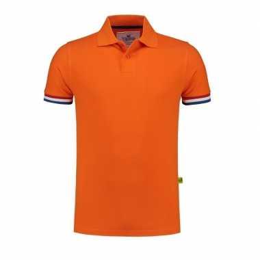 Oranje polo shirt holland heren