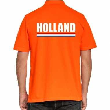 Oranje poloshirt holland heren