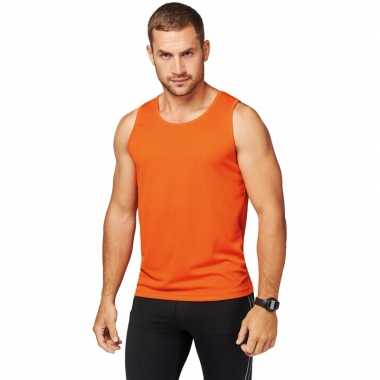 Oranje sport singlet heren shirt