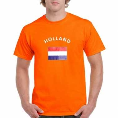 Oranje t shirt holland heren