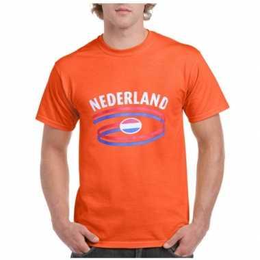 Oranje t shirt nederland heren