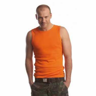 Oranje tanktop heren shirt