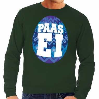 Paas sweater groen blauw ei heren shirt