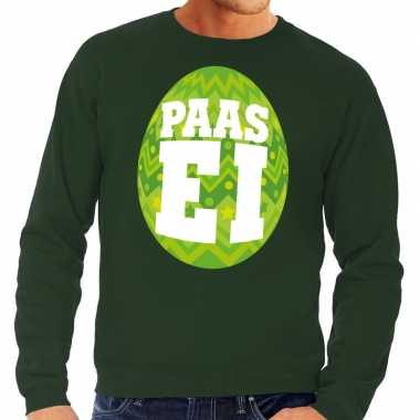 Paas sweater groen groen ei heren shirt