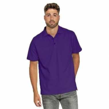 Poloshirt heren paars