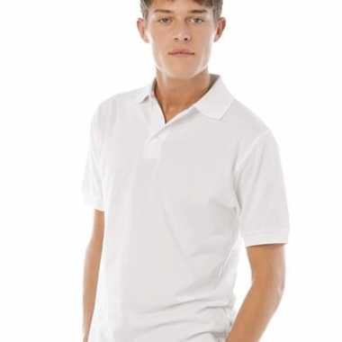 Poloshirt heren wit