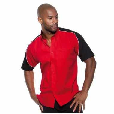 Race shirt rood heren