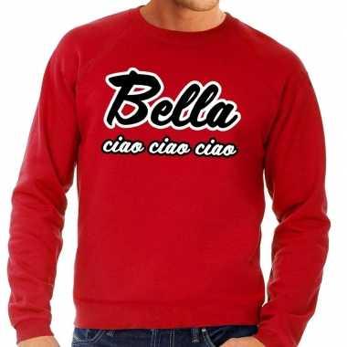 Rode bella ciao sweater heren shirt