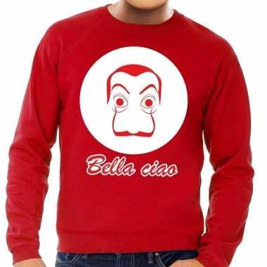 Rode salvador dali sweater heren shirt