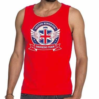 Rood engeland drinking team tanktop / mouwloos shirt heren