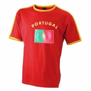 Rood heren shirt portugal