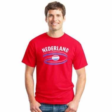 Rood heren t shirt nederland