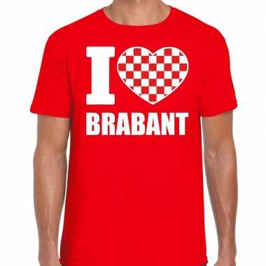 Rood i love brabant t-shirt heren