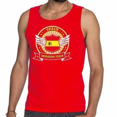 Rood spain drinking team tanktop / mouwloos shirt heren