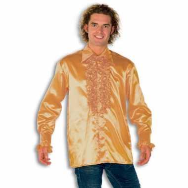Rouche overhemd heren goud shirt
