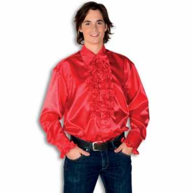 Rouche overhemd heren rood shirt