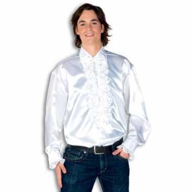 Rouche overhemd heren wit shirt