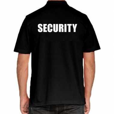 Security grote maten poloshirt zwart heren