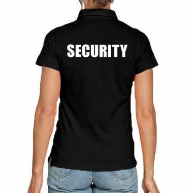 Security poloshirt zwart heren
