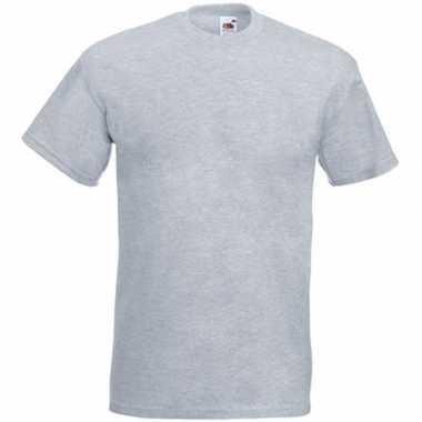 Set stuks basic licht grijs t shirt heren, maat: xl (/)
