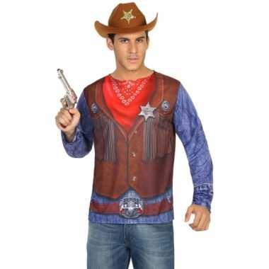 Sheriff verkleed shirt heren