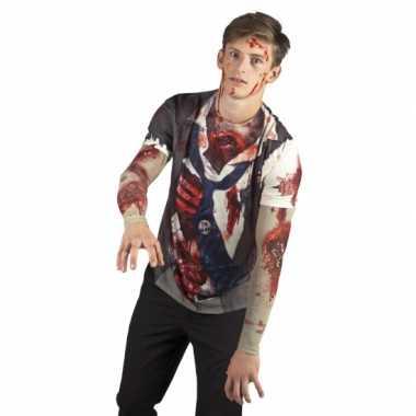 Shirt zombie opdruk heren