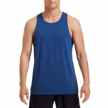Sport singlet kobalt blauw heren shirt
