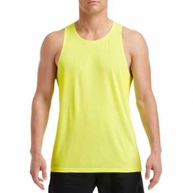 Sport singlet neon groen heren shirt