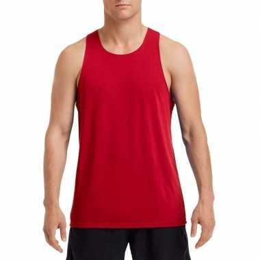 Sport singlet rood heren shirt