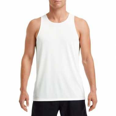 Sport singlet wit heren shirt