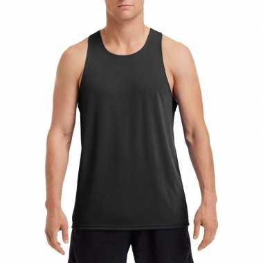 Sport singlet zwart heren shirt