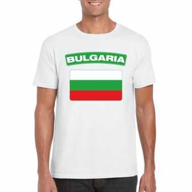 T shirt bulgaarse vlag wit heren