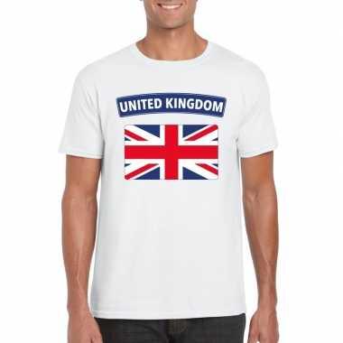 T shirt groot brittannie/ engelse vlag wit heren