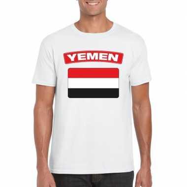 T shirt irakese vlag wit heren