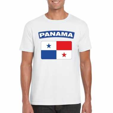 T shirt panamese vlag wit heren