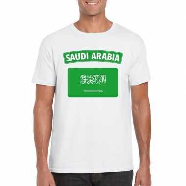 T shirt saudi arabische vlag wit heren