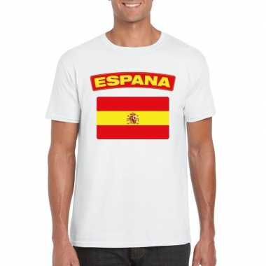 T shirt spaanse vlag wit heren