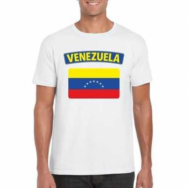 T shirt venezolaanse vlag wit heren