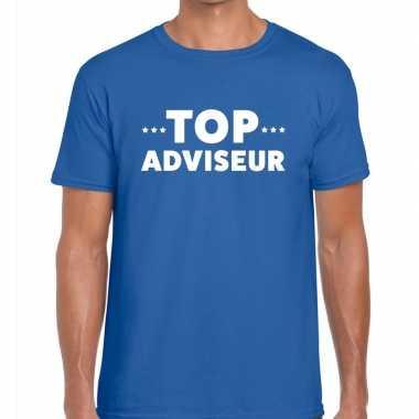Top adviseur beurs/evenementen t shirt blauw heren