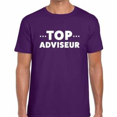 Top adviseur beurs/evenementen t shirt paars heren