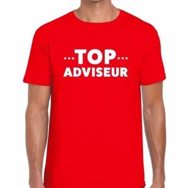 Top adviseur beurs/evenementen t shirt rood heren