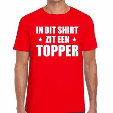 Toppers dit-shirt zit een topper t-shirt rood heren