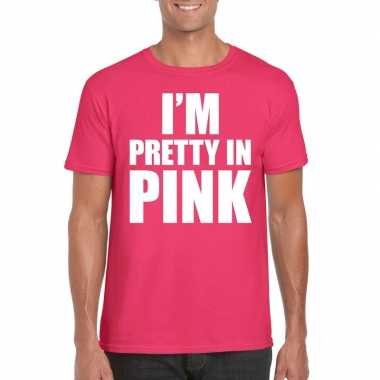 Toppers i am pretty pink shirt roze heren
