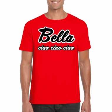 Toppers rood bella ciao t-shirt heren